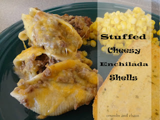 Stuffed Cheesy Enchilada Shells