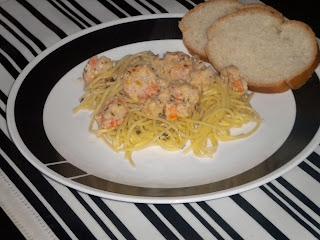Creamy Feta Shrimp Scampi