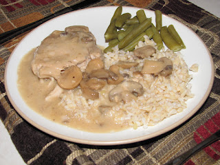 (Crockpot) Pork Chops with Mushroom Sauce