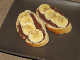 Nutella Banana Bruschetta