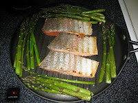 What's For Dinner…Grilled Salmon, Asparagus, and Brown Rice