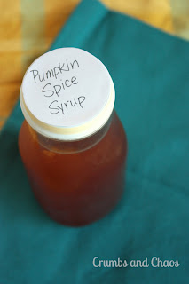 D.I.Y. Pumpkin Spice Syrup for Pumpkin Spice Lattes