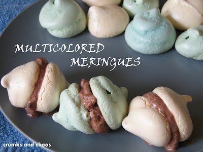 Multicolored Meringues + A giveaway
