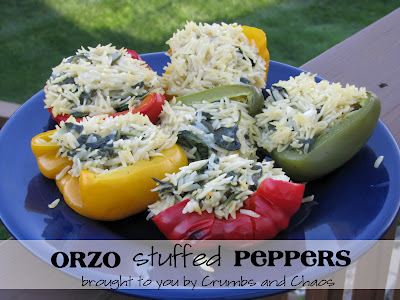 Orzo Stuffed Peppers