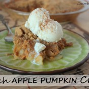 pumpkin apple crisp after