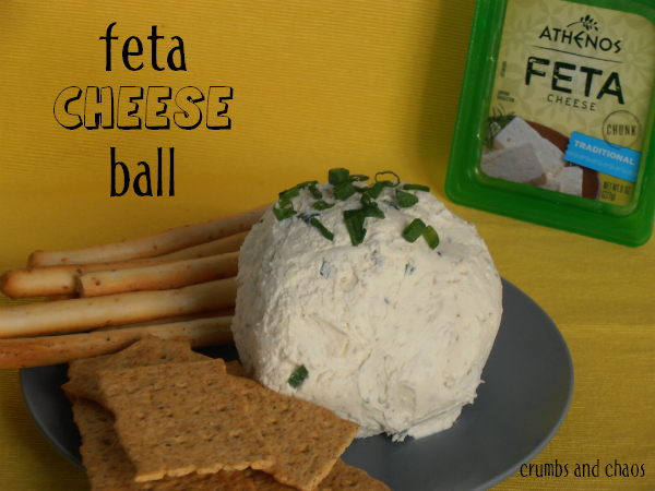 Feta Cheese Ball - Crumbs and Chaos
