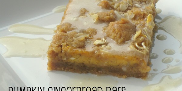 pumpkin gingerbread bars - 1
