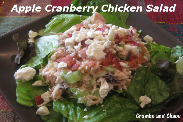 {Cranberry Week} Apple Cranberry Chicken Salad