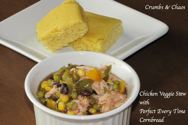 Chicken Veggie Stew with Perfect Every Time Cornbread