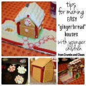 Tips for making Easy 'Gingerbread' Houses with Younger Children | Crumbs and Chaos