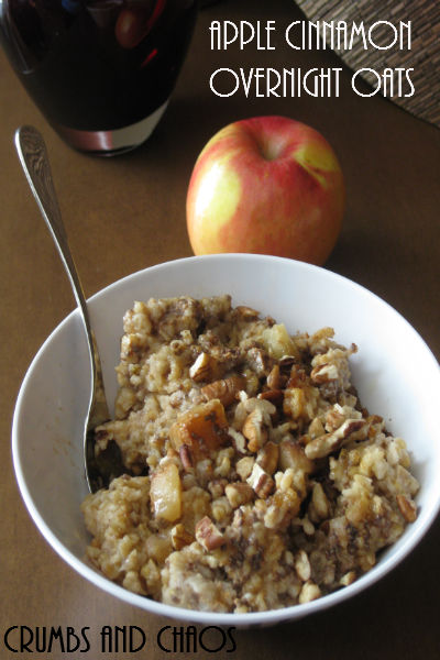 {Crock pot} Steel-Cut Apple Cinnamon Overnight Oats