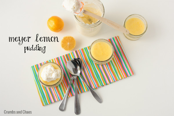 Meyer Lemon Pudding + A Virtual Baby Shower