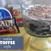 mocha toffee trifle | crumbsandchaos.net | #trifle #brownies #dessert #mocha