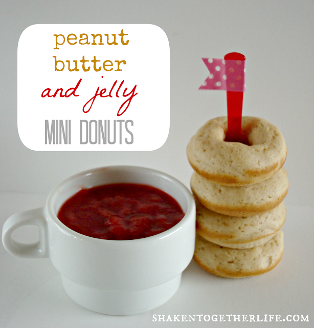 peanut butter & jelly mini donuts
