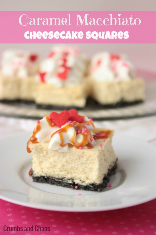Caramel Macchiato Cheesecake Squares | Crumbs and Chaos  #IDLove #cheesecake   www.crumbsandchaos.net
