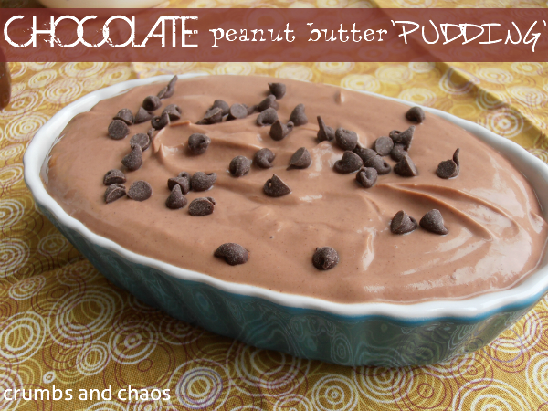 Healthy Chocolate Peanut Butter Pudding | Crumbs and Chaos