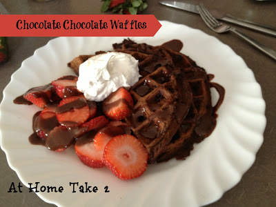 chocolate waffles labeled