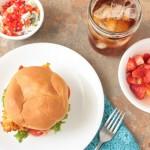 Spicy Chicken & Bacon Sandwich from www.crumbsandchaos.net #chicken #sandwich #recipe
