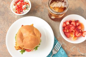 Spicy Chicken & Bacon Sandwich from www.crumbsandchaos.net #chicken #sandwich #recipe