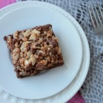 Toffee Crunch Brownies | Crumbs and Chaos #brownies #toffee #chocolate www.crumbsandchaos.net