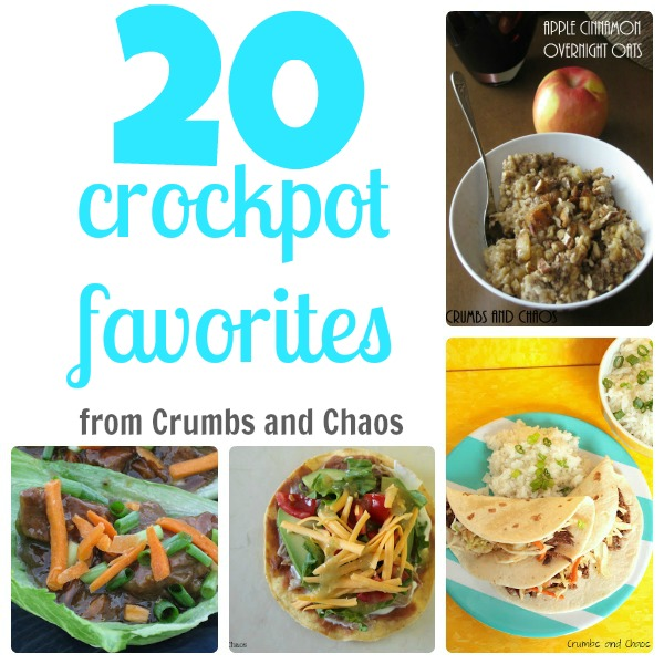 20 Crock Pot Favorites from Crumbs and Chaos #crockpot #slowcooker #dinner www.crumbsandchaos.net