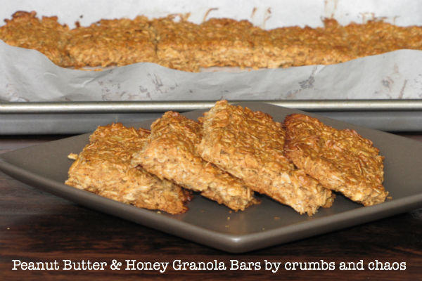 Peanut Butter and Honey granola bars