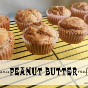 Banana PB muffins |  crumbsandchaos.net  |  #peanutbutter #banana #muffins #breakfast