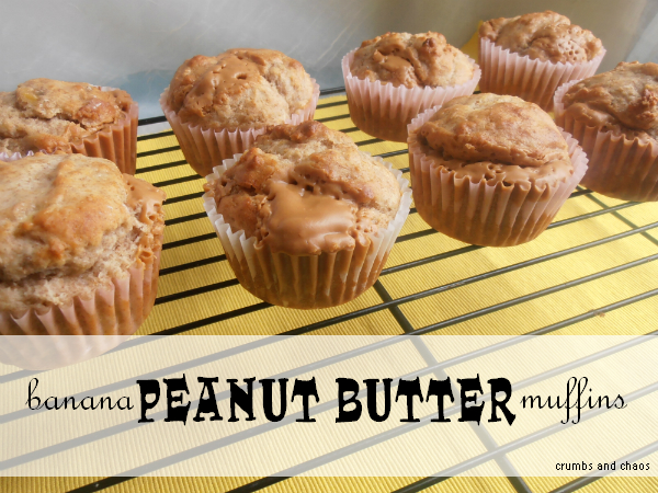 Banana PB muffins |  crumbsandchaos.net  |  #peanutbutter #banana #muffins #breakfast