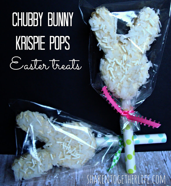 chubby bunny krispie pops Easter treats