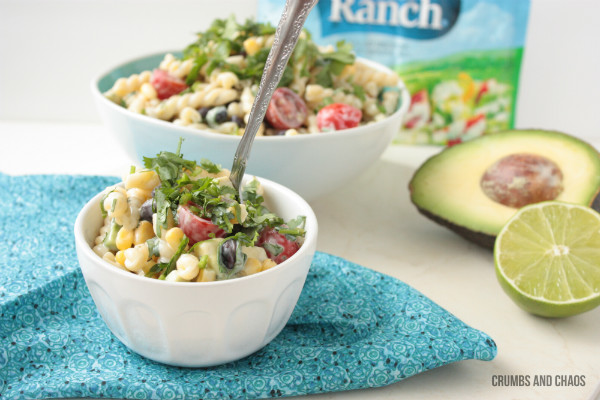 Cilantro Ranch Pasta Salad #ranchremix