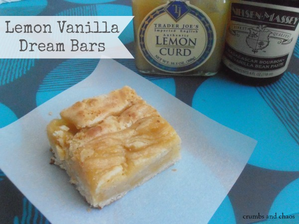 Lemon Vanilla Dream Bars | crumbsandchaos.net | #dessert #lemon #vanilla #bars
