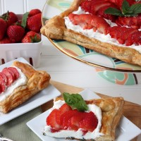 PS Strawberry Basil Cream Tart
