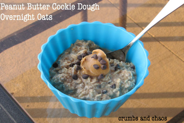 Peanut Butter Cookie Dough Overnight Oats
