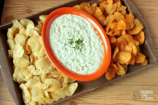 Onion & Goat Cheese Dip with #TheRealKettleChips