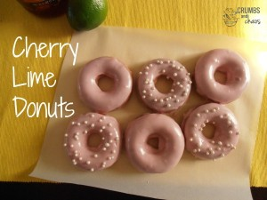 Cherry Lime Donuts | crumbsandchaos.net | #donuts #cherry #lime
