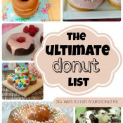 The Ultimate Donut List brought to you by Crumbs and Chaos | 50+ Ways to get your donut fix #donuts #nationaldonutday #breakfast