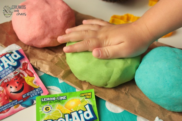 Kool-Aid Play Doh | A guest post from Crumbs and Chaos