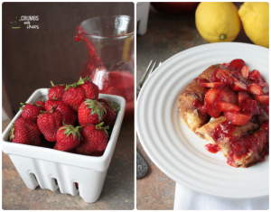 Strawberry Croissant French Toast | Crumbs and Chaos #strawberry #breakfast #frenchtoast www.crumbsandchaos.net