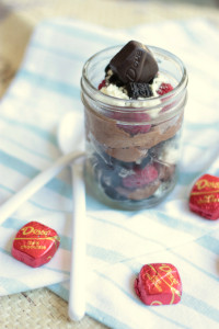 Raspberry & Chocolate Cheesecake Trifles | Crumbs and Chaos