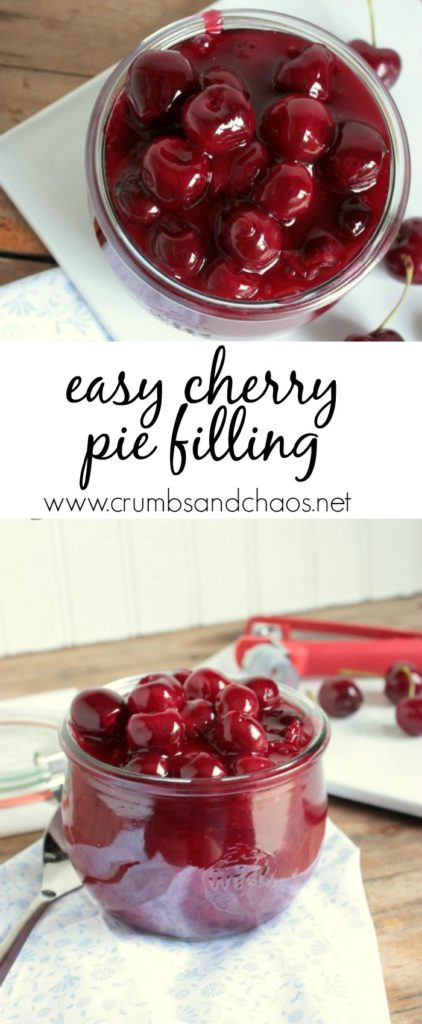 This Easy Cherry Pie Filling is so simple to make and is a great thing to do with fresh sweet cherries!