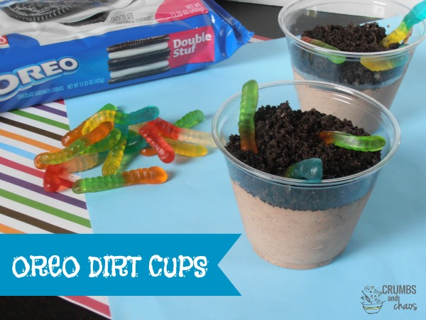 Oreo Dirt Cups Crumbs and Chaos