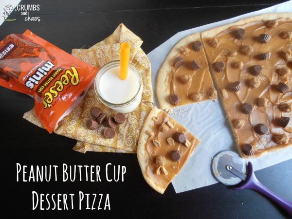 Peanut Butter Cup Dessert Pizza | crumbsandchaos.net | #peanutbutter #dessert #chocolate
