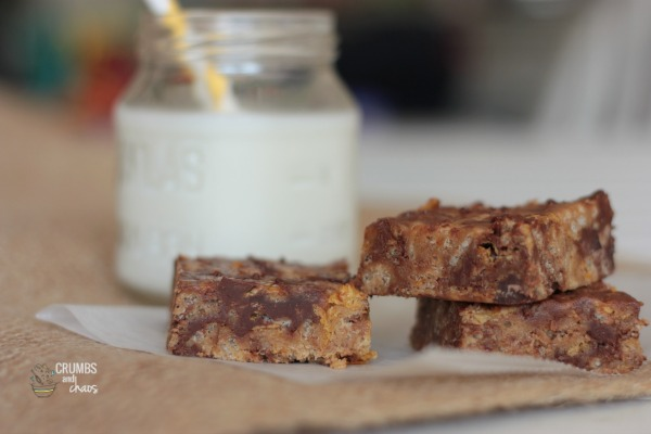 Crispy Chocolate Peanut Butter Bars
