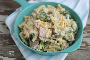 Ranch Ham Cheese & Veggie Pasta | Crumbs and Chaos #dinner #maindish #pasta www.crumbsandchaos.net