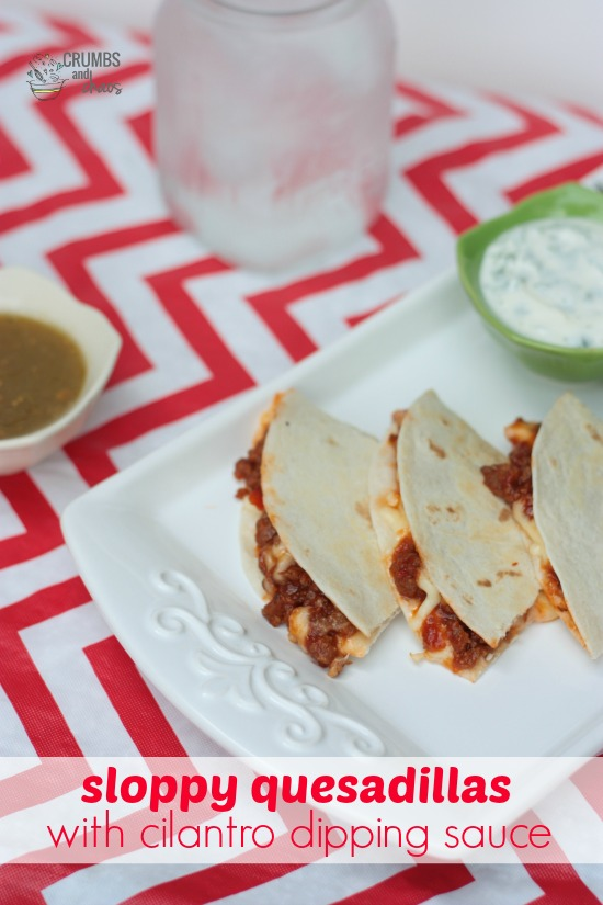 Sloppy Quesadillas | Crumbs and Chaos #dinner #supereasy #Manwich www.crumbsandchaos.net