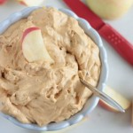 Candy Bar Apple Dip | Crumbs and Chaos #dip #apples #candybar This easy 4 ingredient dip is light and fluffy and perfect for this season's apples! www.crumbsandchaos.net
