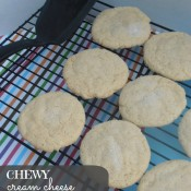 Chewy Cream Cheese Sugar Cookies | crumbsandchaos.net | #cookies #chewy #sugarcookies
