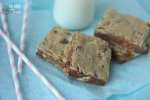 Biscoff Oatmeal Blondies | Crumbs and Chaos #dessert #blondies #biscoff www.crumbsandchaos.net