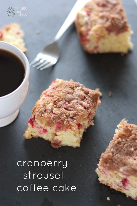 Cranberry Streusel Coffee Cake | Crumbs and Chaos #breakfast #cranberries  www.crumbsandchaos.net