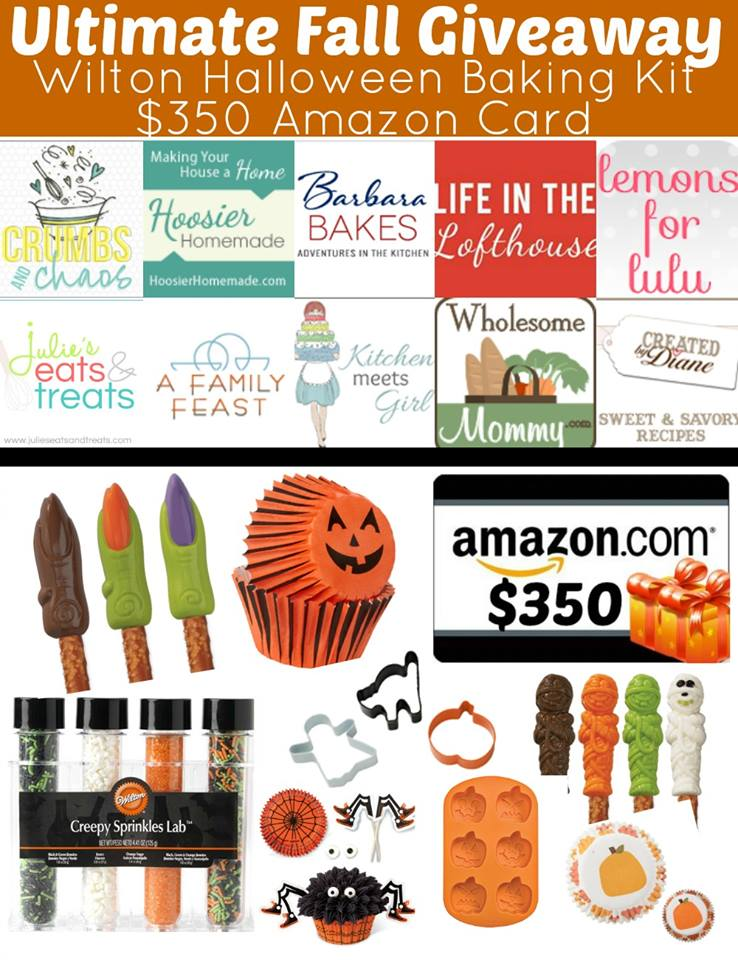 Ultimate Fall Giveaway | win Wilton Halloween Baking Kit & $350 Amazon Giftcard    www.crumbsandchaos.net